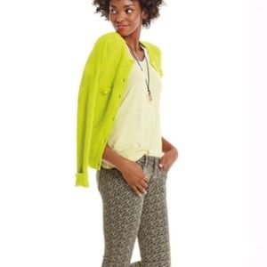 CAbi Lime Green Loren Cardigan Sweater Medium